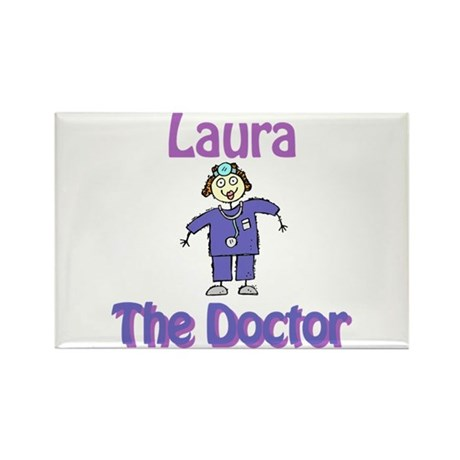 Laura - The Doctor Rectangle Magnet