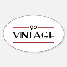 90th Birthday Vintage Oval Decal