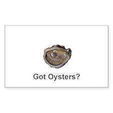 Got Oysters? Rectangle Sticker 10 pk)