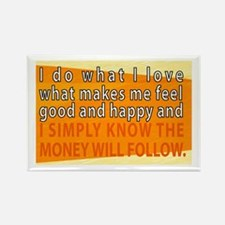 Funny Wealth affirmation Rectangle Magnet