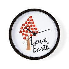 Love Earth (Heart Tree) Wall Clock