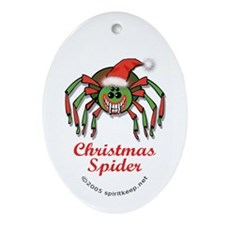 The Christmas Spider Ornament #2 (Oval)