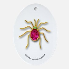 The Christmas Spider Ornament #3 (Oval)