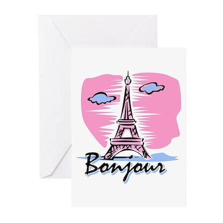 Bonjour Paris Greeting Cards (Pk of 10)