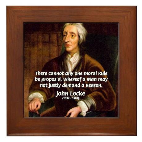 Philosophy John Locke Framed Tile