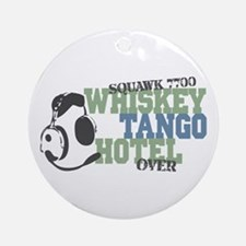 Aviation Whiskey Tango Hotel Ornament (Round)