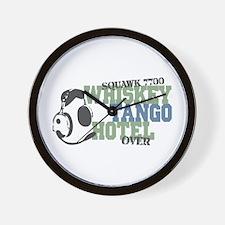 Aviation Whiskey Tango Hotel Wall Clock