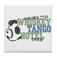 Aviation Whiskey Tango Hotel Tile Coaster