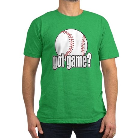 Got Game? Baseball Men's Fitted T-Shirt (dark)