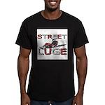 Street Luge Racer Men's Fitted T-Shirt (dark)