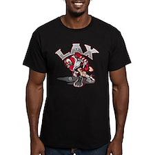 Lacrosse Player Red Uniform T