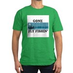 Gone Fly Fishin' Men's Fitted T-Shirt (dark)