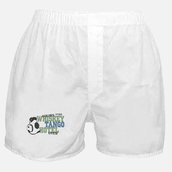 Aviation Whiskey Tango Hotel Boxer Shorts