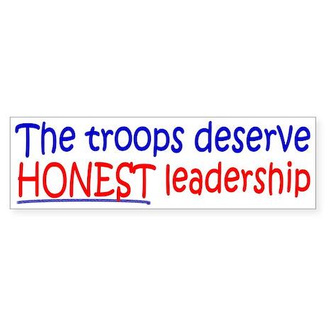 The Troops Deserve Honest Leadership