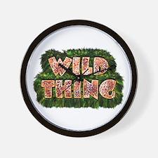 Wild Thing 3 Wall Clock