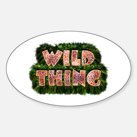 Wild Thing 3 Oval Decal