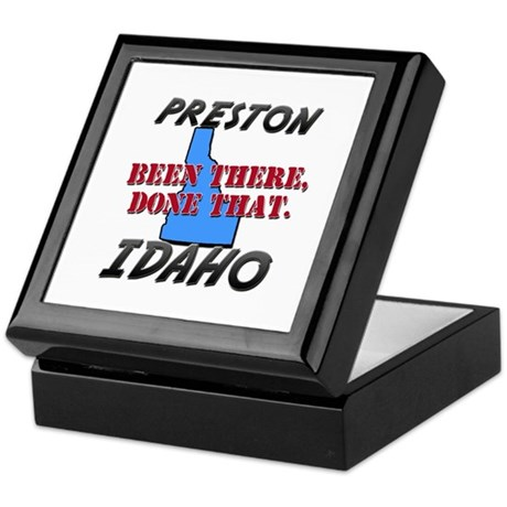preston idaho - been there, done that Keepsake Box