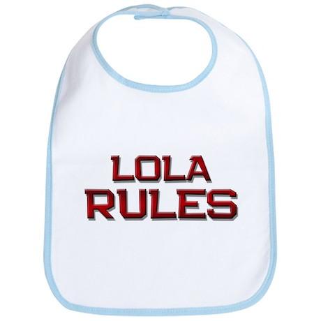 lola rules Bib