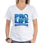 Pro-Life, from conception to Women's V-Neck T-Shir