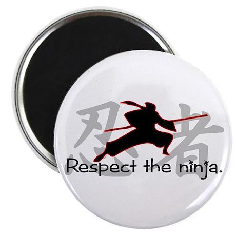 """Ninja Respect (Kanji) 2.25"""" Magnet (10 pack)"""