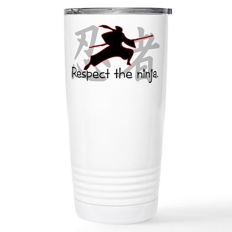Ninja Respect (Kanji) Stainless Steel Travel Mug