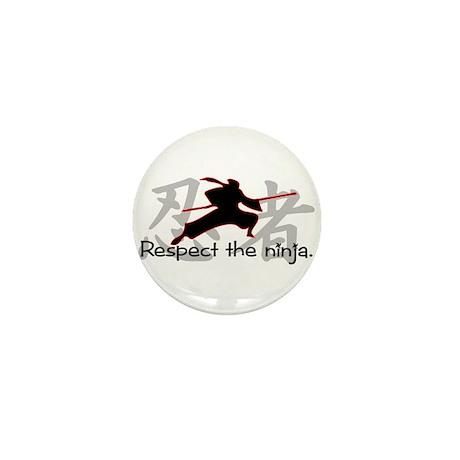 Ninja Respect (Kanji) Mini Button