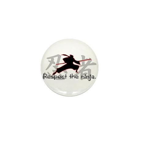 Ninja Respect (Kanji) Mini Button (10 pack)