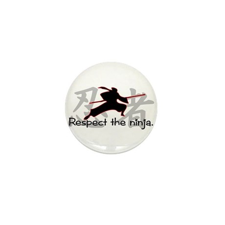 Ninja Respect (Kanji) Mini Button (100 pack)