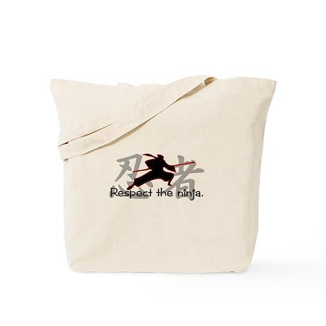 Ninja Respect (Kanji) Tote Bag