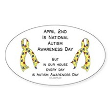 Autism Awareness Day Oval Decal