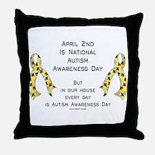 Autism Awareness Day Throw Pillow