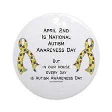 Autism Awareness Day Ornament (Round)