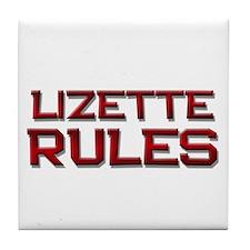 lizette rules Tile Coaster