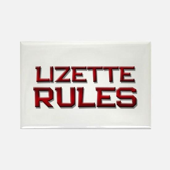 lizette rules Rectangle Magnet