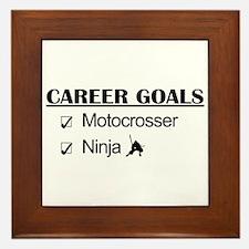 Motocrosser Ninja Career Framed Tile