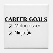 Motocrosser Ninja Career Tile Coaster