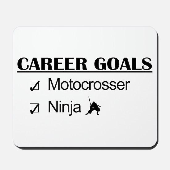 Motocrosser Ninja Career Mousepad