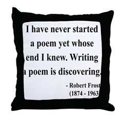 Robert Frost 12 Throw Pillow