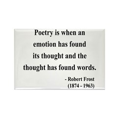 Robert Frost 13 Rectangle Magnet (100 pack)