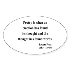 Robert Frost 13 Oval Decal
