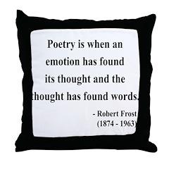 Robert Frost 13 Throw Pillow