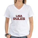 lisa rules Women's V-Neck T-Shirt