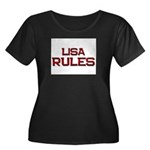lisa rules Women's Plus Size Scoop Neck Dark T-Shi