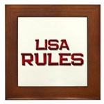 lisa rules Framed Tile