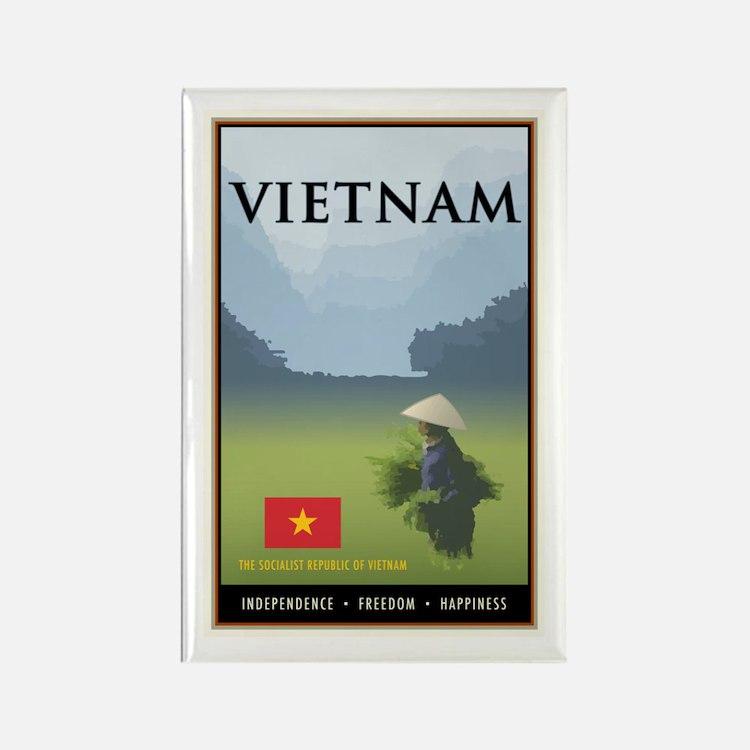 Vietnam Rectangle Magnet
