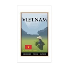 Vietnam Rectangle Decal