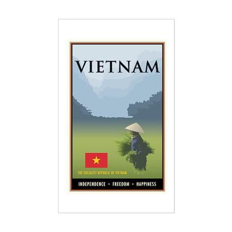 Vietnam Rectangle Sticker