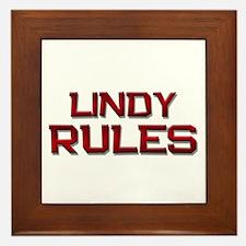 lindy rules Framed Tile