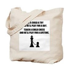 Teach a child chess (Tote Bag)