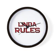 linda rules Wall Clock